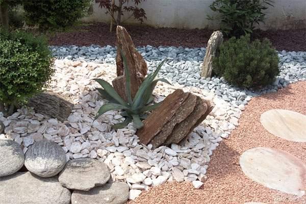 Ciottoli giardini di primavera da costruire a cuneo for Pietre per giardino zen