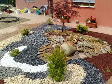 Giardini con ciottoli